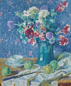 Louis Ritman (1889-1963) | Still-life with flowers and apples | Paintings, oil | Christie's
