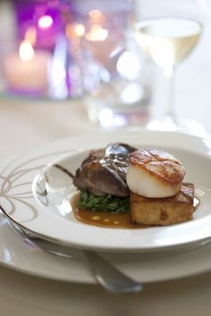 Surf And Turf, Plated Desserts, Parfait, Celery, Beef, Filets, Recipes, Board, Meat