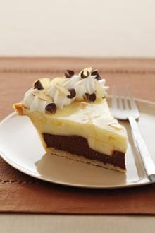 Black Bottom Banana Cream Pie Recipe - This is not the recipe I've used before....  I detest coffee/expresso ....  but I want a yummy BBBCPie again. yum.