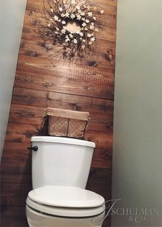 Diy Wood Panel Bathroom Accent Wall 80 93 J Schu&; Diy Wood Panel Bathroom Accent Wall 80 93 J Schu&; Wood Panel Bathroom, Pallet Wall Bathroom, Bathroom Accent Wall, Bathroom Accents, Wood Panel Walls, Wood Paneling, Wall Wood, Bathroom Ideas, Bathroom Grey