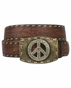 GREAT Find Under $40.00 ...Peace and a little touch of bling for 2013 to this classic belt ...Women's City Girl Belt