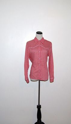 Vintage Red Western Shirt by CheekyVintageCloset on Etsy, $14.50