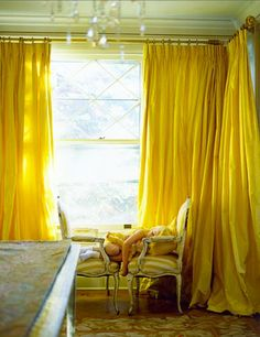 I love yellow curtains