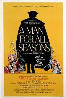 "BEST PICTURE:   (1960)   ""A MAN FOR ALL SEASONS"" The story of Thomas More, who stood up to King Henry VIII when the King rejected the Roman Catholic Church to obtain a divorce and remarriage."