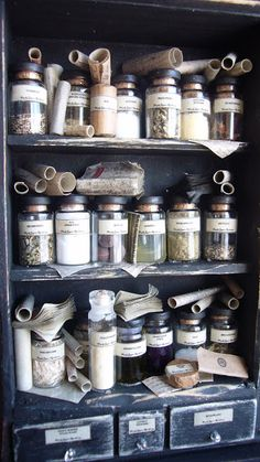 Miniature Apothecary Display by Jennifer Osmond Hat