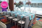 BRIDES' CHOICE - 2ND PLACE: Table decor from Perfect Petal Designs at the 2015 John S. Knight Center bridal show   As seen on TodaysBride.com