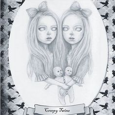 creepytwins .  I am loving this whole mabsdrawlloween experience. On the days my #sickgirlsclub body prevents me from joining in I really miss seeing all your amazing artworks and the different versions of the same prompt! !! I try to catch up, but if I miss any = You are all awesome! I want to thank the amazing and inspirational @mabgraves for creating this wonderful 'everyone embracing' experience, and for enabling me(a girl who can't get out and socialize) ...
