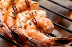 Grilled Shrimp with Mango-Chili Sauce: Discover the secret to grilling shrimp so that they retain moisture and flavor! | via @SparkPeople #grill #recipe