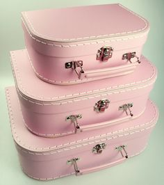 Mashmellow Pink Euro Suitcases $39.95 for on top of the chest of drawers