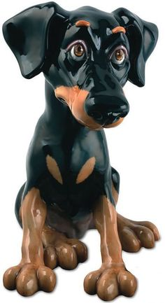 Nelson the Doberman - Pets with Personality Collectible Dog Figurine