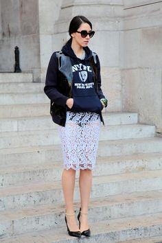 #dianaenciu #streetstyle #fashionweek #nypd #lace #marni #style #ss2013 #paris #look #outfit #fabulousmuses  #legs #prada