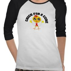 AIDS HIV Chick For A Cure Tee Shirts by www.allaboutchicksgifts.com