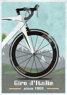 Giro d'Italia Bike Art Print  tour de france bicycle