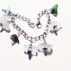 A personal favorite from my Etsy shop https://www.etsy.com/listing/216506490/aqua-sea-glass-bracelet-beach-glass