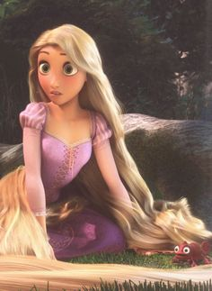 One of my fave pics of Repunzel..... I just love how she and pascal have the same expression❤