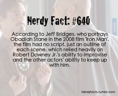 Apparently this happened with all of his roles as Tony Stark. Proof that RDJ IS Iron Man