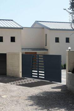 13 meilleures images du tableau portail alu gris anthracite gray modern townhouse et electric. Black Bedroom Furniture Sets. Home Design Ideas