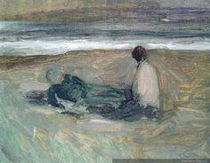 dos figuras frente al mar  1985