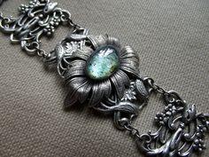 Bracelet feuille et fleurs de Anaïs Faë sur DaWanda.com