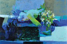 Another Blue, óleo sobre lienzo, 60x90cm, 2011.  www.gracielagenoves.com.ar
