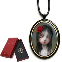 """The Official """"ROSE"""" Pendant by Mark Ryden ~personal wish list ~ Blood Tears, Mark Ryden, Steven Tyler, Funky Jewelry, Old Master, Gift List, Vintage Love, Art And Architecture, I Tattoo"""