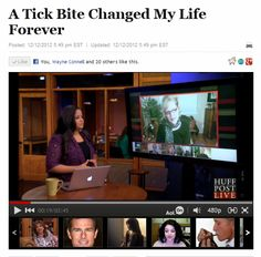 """""""A Tick Bite Changed My Life Forever!"""" Interview with HuffPost LIVE from the Huffington Post!   www.SherriConnell.com"""