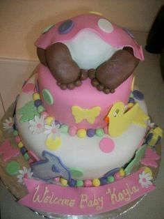 O'Sheila Cakes and Creations Baby Shower Cake for girls by O'Sheila Cakes and Creations