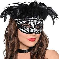 Host a masquerade safari with our Zebra Stripe Feather Mask. Our Zebra Stripe Feather Mask is a molded fabric, zebra-print half-mask with sequin trim, a black border, and black plume. Costume Halloween, 65th Birthday Party Ideas, Pink Zebra Party, Zebra Mask, Feather Mask, Discount Party Supplies, Mardi Gras Party, Animal Masks, Animal Costumes