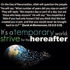Strive for hereafter