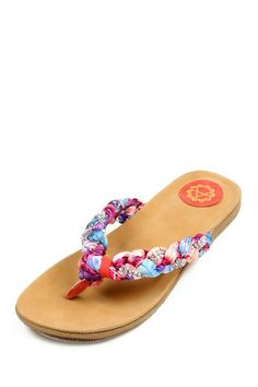 Soho Orange Braided Sandal by Amrita Singh on @HauteLook