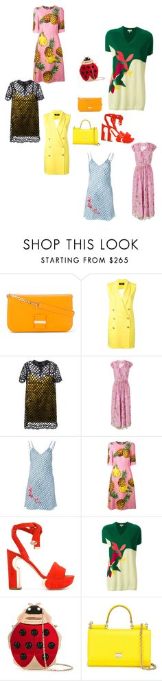 """""""No Words..**"""" by yagna ❤ liked on Polyvore featuring See by Chloé, Versus, Marc Jacobs, Ashish, Carven, Dolce&Gabbana, Nicholas Kirkwood, Delpozo, Charlotte Olympia and vintage"""