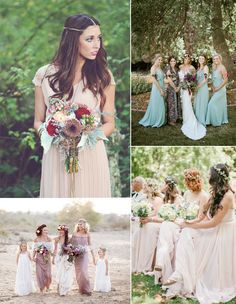 bohemian bridesmaid dresses inspiration for wedding 2015