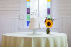 Austin Wedding Photographer, Mercury Hall, Simple Wedding Cake, (c) Lahra Bryant Photography