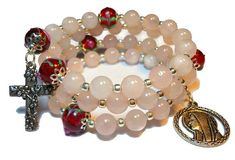 Rose quartz rosary bracelet Pink Goddess five decade $55 - use coupon code PIN15 to save 15% now. Just CLICK pic!