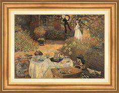 "Claude Monet ""Breakfast"" painting replica 92 x 78 cm / $564 incl.20% VAT and Shipping / Click http://mondialart.co.uk/product/breakfast-g/ #art #painting #mondialart #replica"