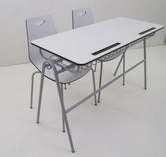 Çift kişilik öğrenci sırası compact oturaklı