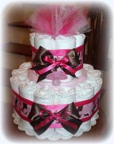 Camouflage-Diaper-Cake-HIDDEN-GIFTS-Baby-Shower-Centerpiece-Camo-Girl