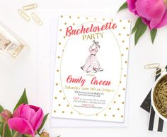 Bachelorette party Invitation Bridal Shower by AlniPrints on Etsy  #Bachelorette #Bridal #Shower #Invitation #brunch #idea #invite #Lingerie #party #dinner