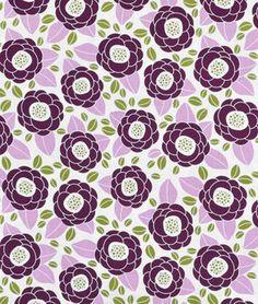 Joel Dewberry Bloom Lilac Fabric - $8.9 | onlinefabricstore.net