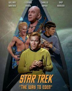 "Star Trek: The Original Series ""Where No Man Has Gone Before"" (First Broadcast: September (Sally Kellerman) - Star Trek: The Original Series ""The Way to Eden"" (First Broadcast: February Star Trek Books, Star Trek Tv, Star Trek Characters, Star Wars, Star Trek Original Series, Star Trek Series, Tv Series, Star Trek Posters, Film Posters"