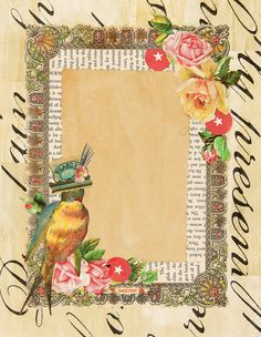 Vintage Labels, Vintage Ephemera, Vintage Paper, Background Vintage, Paper Background, Printable Art, Free Printables, Bird Free, Retro Images