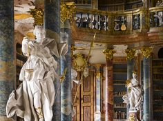 """Library of Wiblingen Abbey in Southern Germany, completed in 1744 (via """"The World's Greatest Libraries"""")."""