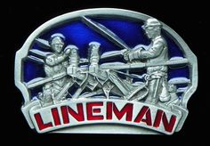 Electrician Lineman Work Profession Belt Buckle Electricity Pole Climbers Electricians Worker Professions Belts Buckles #lineman #linemanworker #linemanbeltbuckle #linemanbuckle #beltbuckles