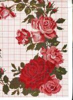 Gallery.ru / Фото #6 - Скатерть, подушка с розами - homjchok