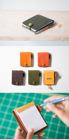 Hand crafted leather goods by Duram Factory. Discover leather wallets, bags and small leather goods made from quality vegetable tan leather. Leather Art, Leather Books, Leather Gifts, Leather Design, Leather Tooling, Tan Leather, Handmade Leather, Leather Jewelry, Leather Notepad