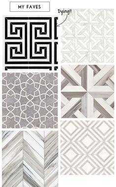 Mimosa Lane: Tile Me Crazy. Bottom right-master bath.