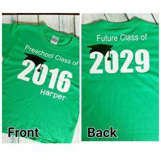 Preschool Graduation Shirt / Preschool by HarperRoseBoutique