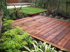 Garden Ideas Railway Sleepers using railway sleepers and hardwood deck boards | gardening and