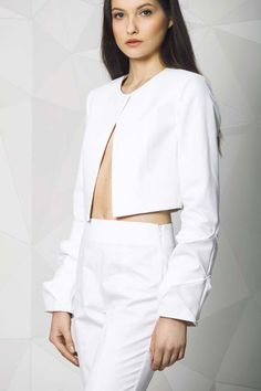 Jacket with 3D polyhedra on the sleeves Bell Sleeves, Bell Sleeve Top, Spring Summer, Shopping, Collection, Tops, Women, Fashion, Moda