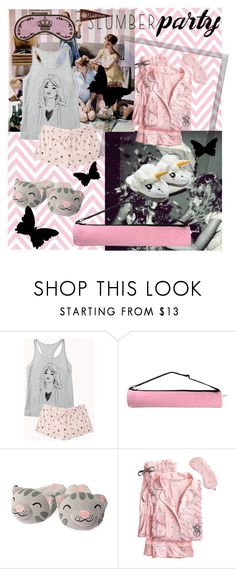 """Pink & Princess Slumber Party"" by ana-mrsantos on Polyvore featuring Forever 21, Swarovski, Pijama, Polaroid, Victoria's Secret and slumberparty"
